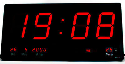 Reloj Digital De Pared Mural Led Rojo Para Colgar 220V Tipo Basquet Baloncesto