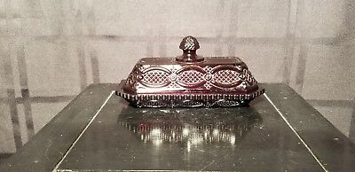 "Avon ""Cape Cod - Ruby Red"" Covered Butter Dish"