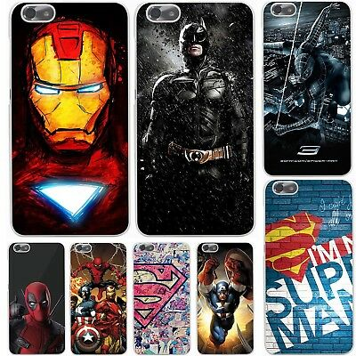 HUAWEI P8 P9 Lite 2017 P10 Cartoon Cover Case Marvel Deadpool Spiderman Batman