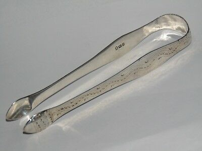 226 Years Old Early Antique 1792 Silver Peter & Ann Bateman Silver Sugar Tongs