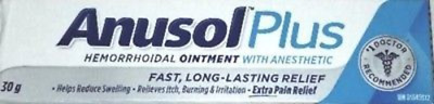 Anusol Plus Extra Pain Relief Anesthetic Hermorrhoidal Ointment 4 x 30g Canadian