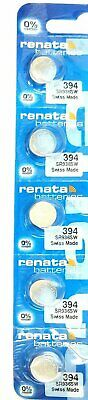 Renata 394 SR936SW 1.5V Silver Oxide Button Watch Battery- 5 Pack