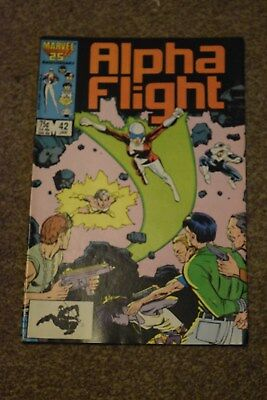 ALPHA FLIGHT Comic - No 42 - Date 01/1987 - MARVEL Comic