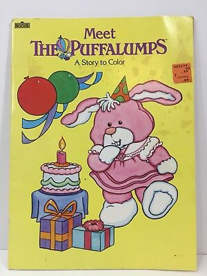 Vintage 1987 Meet The Puffalumps Coloring Book Fisher Price