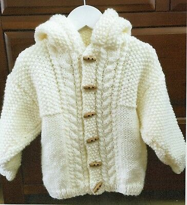 Baby Kids Girls Boys Chunky Jacket Knitting Pattern 0 months - 8 Years  #1108