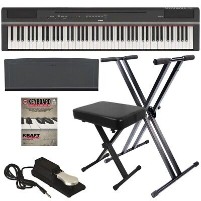 Yamaha P-125 Digital Piano - Black KEY ESSENTIALS BUNDLE