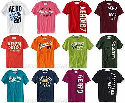 Aeropostale Mens All Embroidered T-Shirts Lot Of 10 You Choose Sizes Nwt