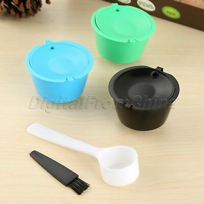 3Pcs Refillable Coffee Capsule Filter For Nescafe Dolce Gusto 3 Colors i Cafilas