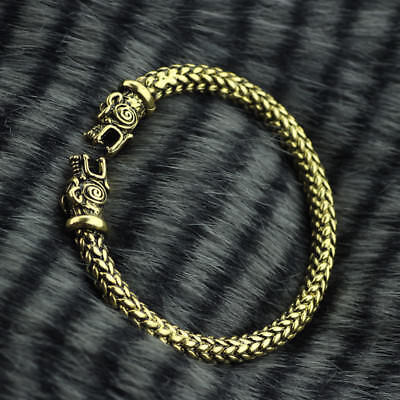 Vikings GOLD ARM RING Wolf Replica Bracelet Show Allegiance to RAGNAR LOTHBROK!!