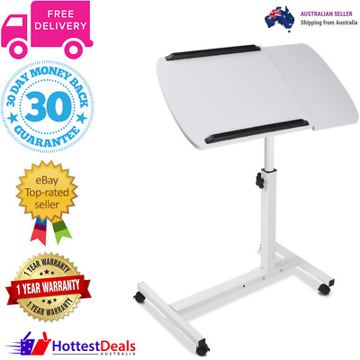 Laptop Rotating Mobile Adjustable Desk Notebook Tablet Stand White Tray Table