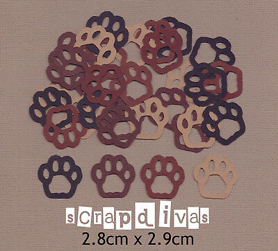 Scrapbooking Embellishments - DOG PAWS LARGE Die Cuts - Cardstock x 30
