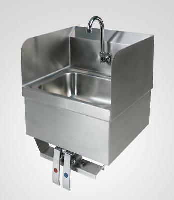 Knee Operated Hand Sink with Splash Guards