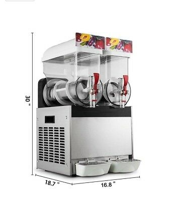 Commercial Slushie Machine Frozen Drinks Slurpy Cocktail granita 2 x 15 litre