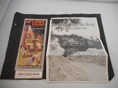 Circa 1928 Mt. Lowe Tavern & Cottages Brochure-Pacific Electric Railway