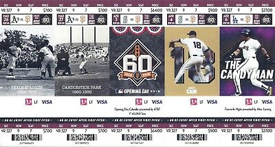 San Francisco SF Giants 2018 Ticket Stub March April May June Games New Mint