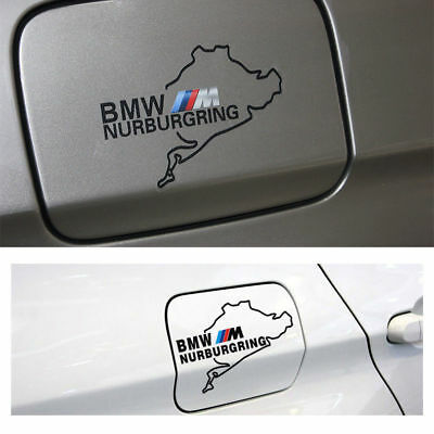 1x M Tech Color Badge Black Oil Tank Trunk Sticker Emblems Decal For All Series