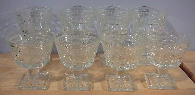 8 Clear Glass Colony Indiana PARK LANE Water Goblets & Sherbet Cups