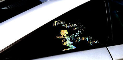 Rainbow Fairy holographic vinyl Decal-Butterfly fairy sticker for car,laptop