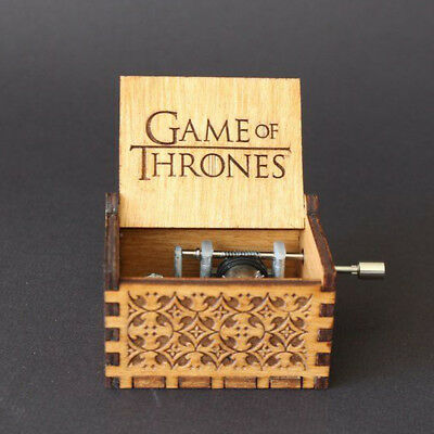 Game of Thrones Music Box Engraved Wooden Crafts Interesting Mini Toys Gifts US