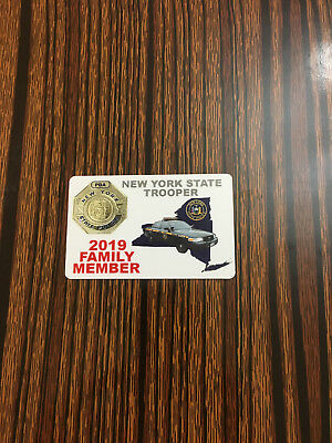 2018 NYSP New York State Police family member card PBA
