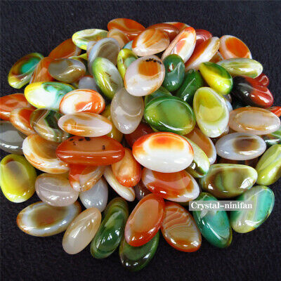 1/2lb Natural Colorful Mixed Tumbled Agate Crystal Bulk Mix  Assorted Gem Stone