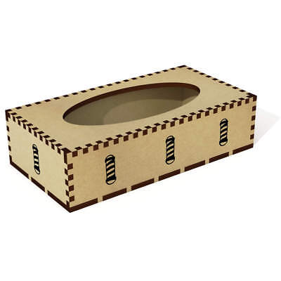 Long 'Barber Sign' Wooden Tissue Box Cover (TB00009494)