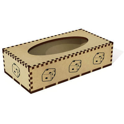 Long 'Dice' Wooden Tissue Box Cover (TB00013098)
