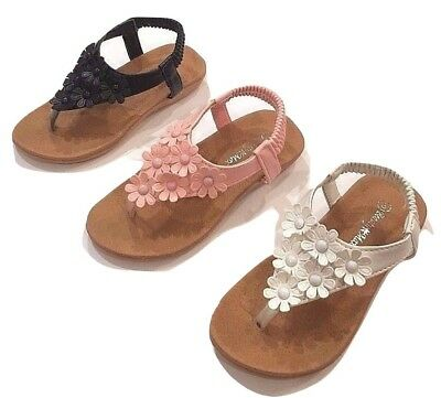 Toddler Baby Girl Soft Sole Crib Shoes Infant Summer Sandals Size 5-10 See Chart
