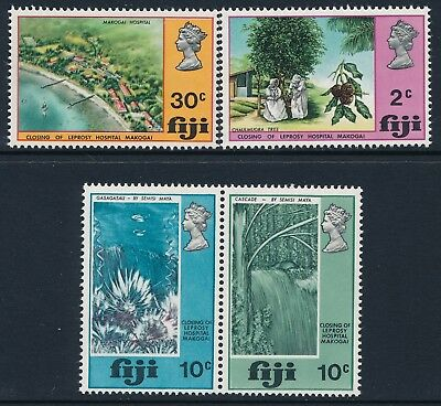 1970 Fiji Closing Of Leprosy Hospital Set Of 4 Fine Mint Mnh