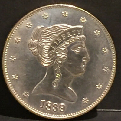 Rare and almost uncirculated Fantasy 50c Half Dollar 1839 Coin