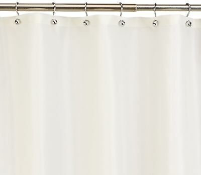 Extra Long Fabric Shower Curtain Liner Water Repellent