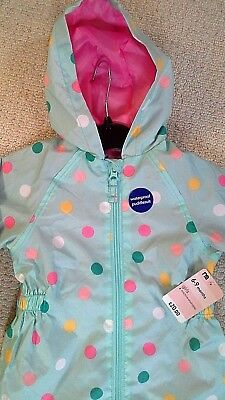 Mothercare Girls Mint Green Spot Spotted Waterproof Puddlesuit - 6-9 Months-New