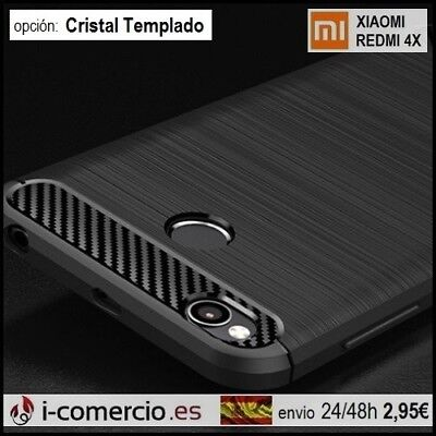 Funda Carcasa TPU Carbono Carbon Tough Rugged Slim Case Xiaomi Redmi 4X 5.0""
