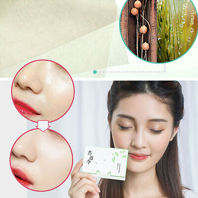 100 Sheets Facial Skin Oil Absorbing Paper Blotting Face Cleaner Paper Green Tea