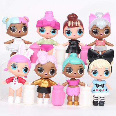 8 LOL Surprise Soft Doll Action Figures Kids Girl Playset Toy Cake Topper Decor