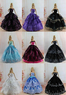 15 items=5 Fashion Royalty Ballgown Clothes/Dress/Gown +10 shoes For 11.5in.Doll