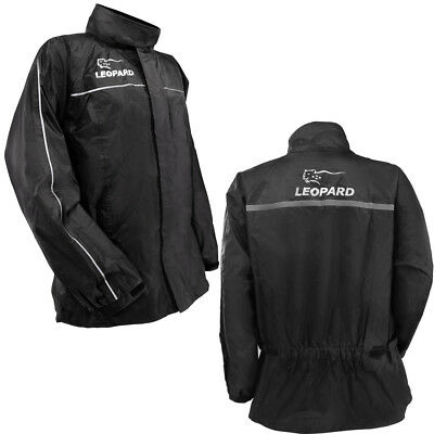 Leopard Motorcycle Over Jacket Waterproof Motorbike Rain Wear Hiking Cycling
