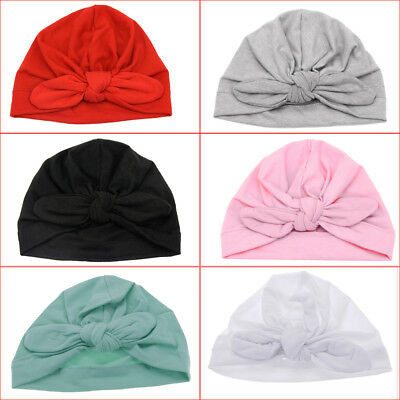Infant Baby Soft Warm Hat Toddler Spring Autumn Cotton Beanie Kids Bow Knot Cap