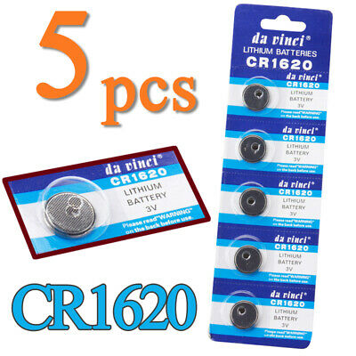 5x/Pack CR1620 3V Volt Button Cell Coin Battery For Remote Watch Calculator Toys