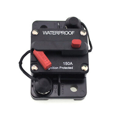 Professional 150 Amp Manual Reset Circuit Breaker For Car Boat Ignition Protecte
