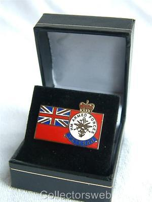 Military Armed Forces Merchant Navy Veterans Enamelled Lapel Badge