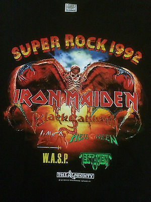 Monsters Of Rock Event Shirt 1992 Iron Maiden Black Sabbath Size L, Mint Rare