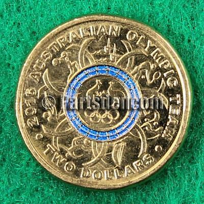 1 x 2016 Rio Olympic $2 Two Dollar Coin Blue from unc RAM bag Australian coins
