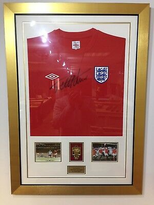 Sir Geoff Hurst Signed & Framed England Shirt With Photo Display