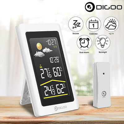 Digoo Wireless HD Digital In&Out Hygrometer Thermometer Weather Forecast Station