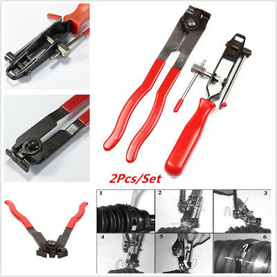 2Pcs CV Joint Boot Clamp Pliers Car Banding Tool Kit Clip Hose Set Camping tool