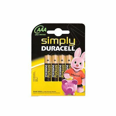 24 x AAA Duracell Simply  mn2400 lr03 Long Lasting Alkaline Battery