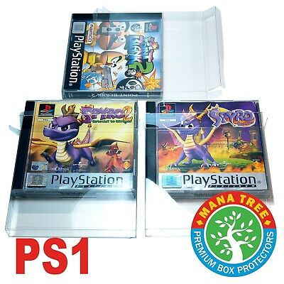 10 x Sony PlayStation PS1 Superior Quality Plastic Box Protectors | Sleeve