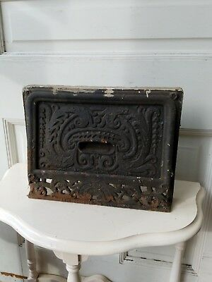 Antique Cast Iron Wall Vent Cover, Victorian Collapsible Heat Grate