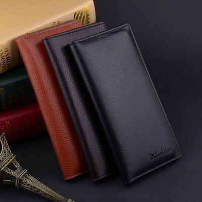 US Stock Business Men's Casual Leather Wallet Pockets Card Clutch Bifold Purse